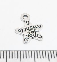 Just for you star charms / pendants x 50.